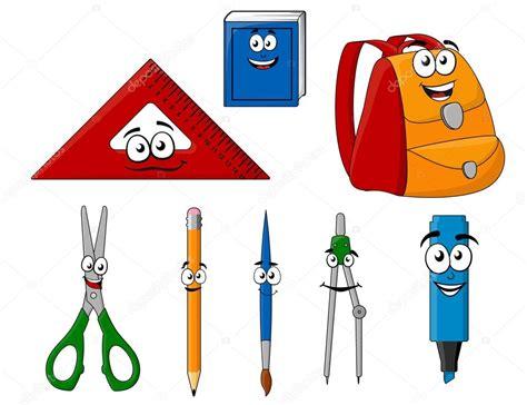 imagenes de objetos de utiles escolares 250 tiles escolares y objetos de estilo de dibujos animados