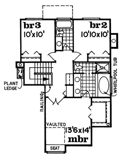 upper level floor plan of garage plan 7124 eat in kitchen contemporary traditional house plans home design sea123