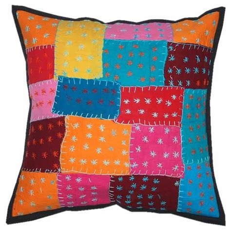 Handmade Cushion Cover - indian decor handmade cushion pillow covers traditional