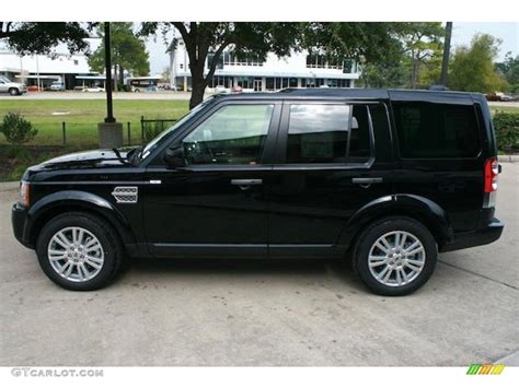 black land rover lr4 santorini black metallic 2011 land rover lr4 hse