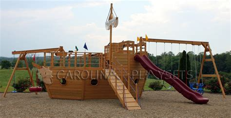 free wooden boat playhouse plans playhouse swing set plans pirate ship playhouses my