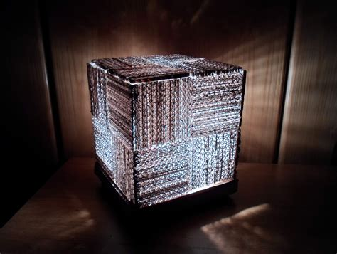 Diy Learn How To Make A Cool Cube L Using Recycled Make Lights