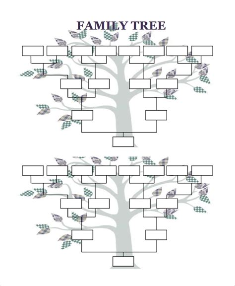 family tree downloadable template sle blank family tree template 8 free documents