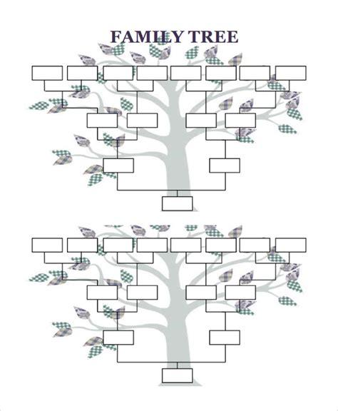 obituarieshelp org free printable blank family tree html sle blank family tree template 8 free documents