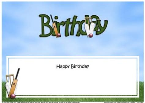 birthday cricket large dl sports matching large dl insert