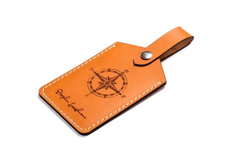 Handmade Luggage Tags - personalised luggage tag handmade from italian leather by