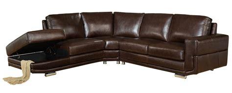 Cecile Full Top Grain Dark Brown Leather Sectional Brown Leather Sofa Sectional