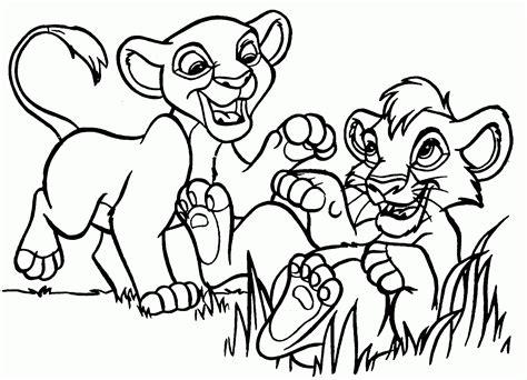 lion king kiara coloring pages kiara and kovu coloring pages coloring home