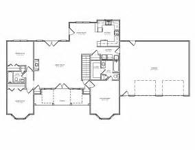 split ranch floor plans traditional country houseplan split bedroom greatroom