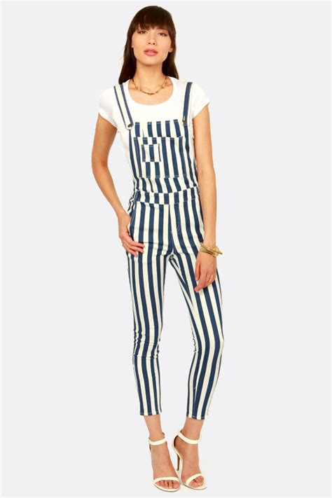 Overall Stripy blue and white overalls striped overalls 54 00