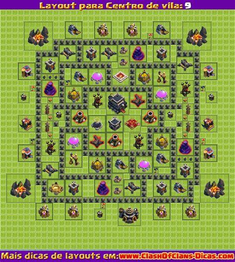layout atualizado cv 9 melhores layouts para clash of clans centro de vila n 237 vel