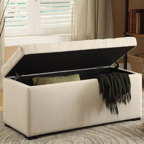 fabric storage benches tufted storage bench linen fabric sah3917 x14