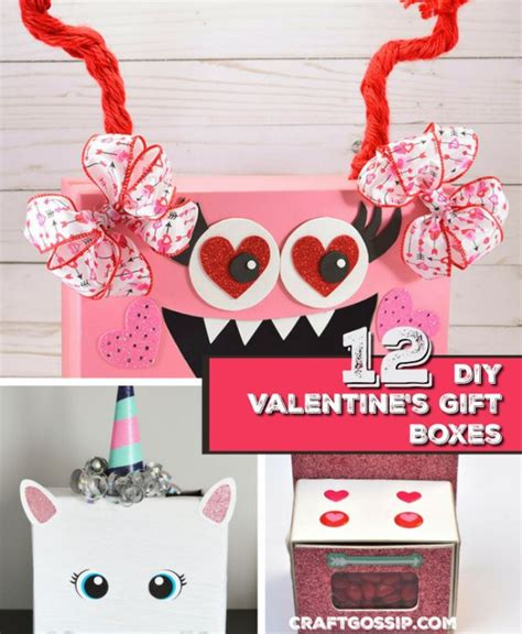 12 valentine day 12 diy valentine s day gift boxes