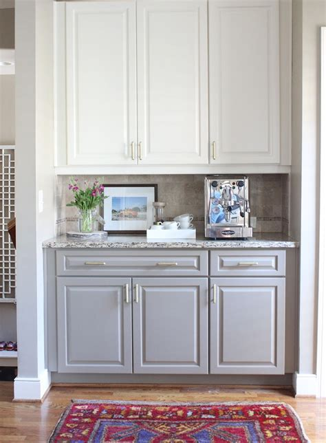 Bottom Kitchen Cabinets by Two Toned Kitchen Cabinets White On Top Gray On