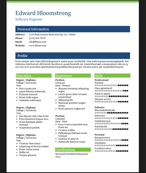 Modelo Curriculum Vitae Analista Programador 5 Plantillas Word Para Curriculums De Programadores Desarrollo De Profesionistas Ti