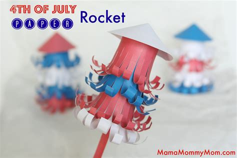 Bombs Bursting In Air Simple 4th Of July Craft