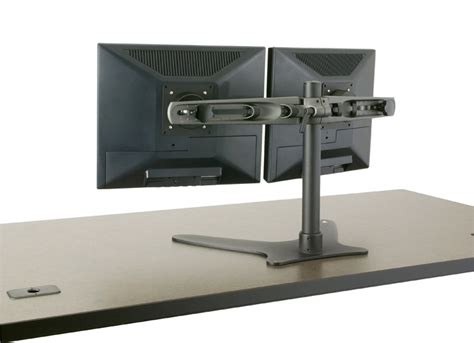 dual monitor standing desk images