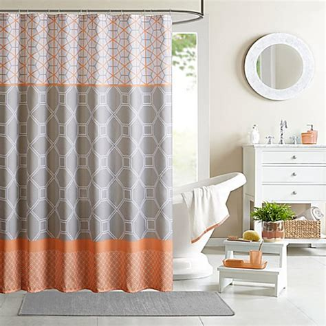 Shower Curtains Orange Intelligent Design Clara 72 Inch Shower Curtain In Orange Bed Bath Beyond