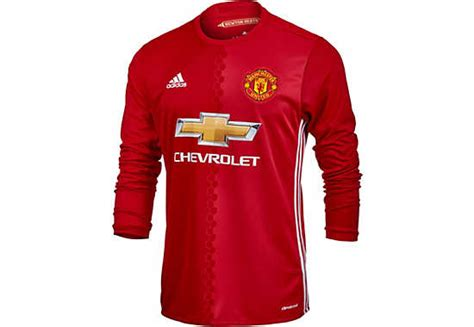 Jersey Manchester United Ls adidas manchester united l s jersey manchester united
