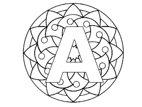 lettere mamma didattica coloriamo i mandala dell alfabeto maiuscolo