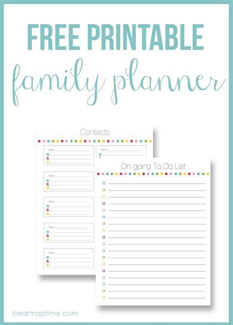 printable family planner heart nap time heart