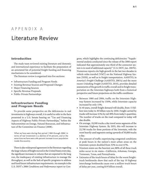 literature review report sle appendix a literature review dedicated revenue