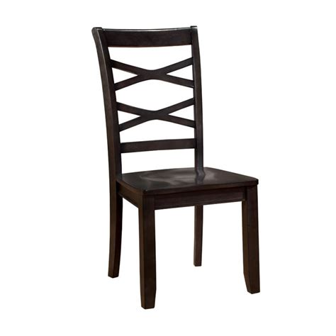 Espresso Dining Chairs Furniture Of America Hannon Dining Chair In Espresso Set Of 2 Idf 3528ex Sc