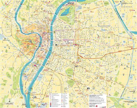 carte de lyon dans le rhone carte  plan de la ville de