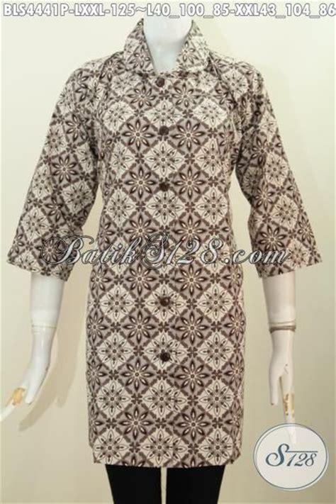 Baju Wanita Karir Berjilbab baju blus elegan spesial buat wanita karir berebadan gemuk busana batik elegan model kerah