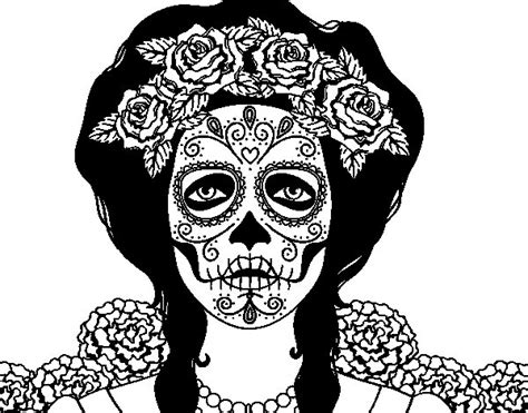 calaveras mexicanas para pintar calaveras para colorear mujer imagui