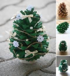Pine Cone Ornaments by Wonderful Diy Mini Pine Cone Christmas Tree