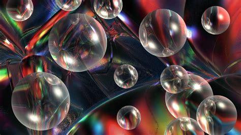 wallpaper virtual 3d 3d view abstract nature multicolor bubbles virtual