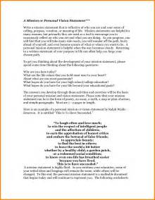 Personal Vision Statement Template by 10 How To Write A Personal Vision Statement Exles