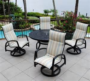 backyard creations patio furniture backyard creations 5 sanibel dining collection at