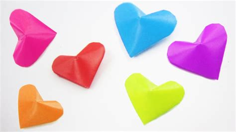 3d Hearts Origami - how to make origami 3d quot lucky hearts quot ideas on how to
