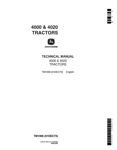 wiring diagram deere 4020 tractor manual deere