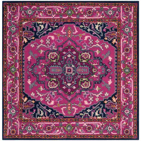 Bellagio Rugs by Safavieh Monaco Pink Multi 5 Ft X 5 Ft Square Area Rug