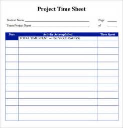Project Management Timesheet Template by Sle Project Timesheet 6 Exles Format