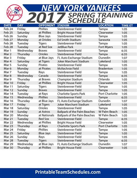 printable schedule yankees 60 best images about mlb basbeball schedule 2017 on