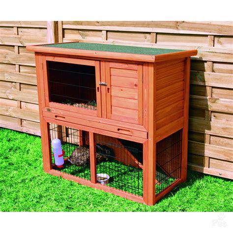 Trixie Rabbit Hutch trixie 2 storey rabbit hutch
