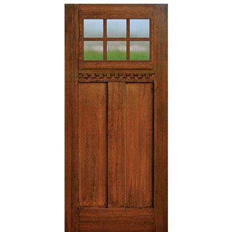 Craftsman Fiberglass Entry Door by Glasscraft Craftsman 6 Lite Sdl Craftsman 6 Lite Mahogany Divided Lite Mahogany Wood Grain