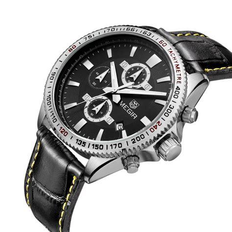Megir Analog Ml3008g Limited megir brand casual sport watches tachymeter chronograph function 3atm waterproof vintage