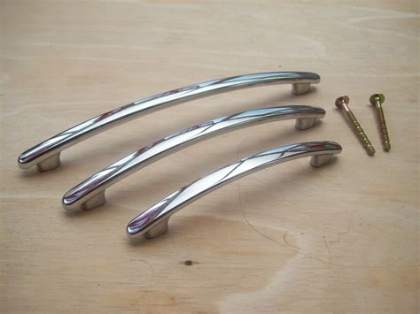 kitchen cabinet door handles polished chrome sleek bow arched kitchen door cupboard