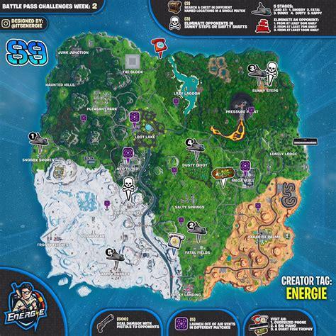 fortnite week 2 challenges fortnite sheet map for season 9 week 2 challenges