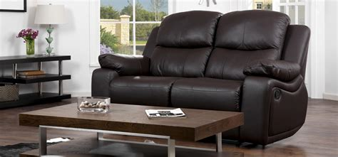 Cheap Couches Montreal by Montreal Espresso Brown Reclining 2 Seater Leather Sofa Sofashop