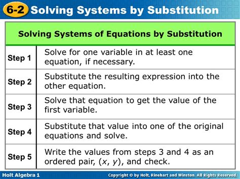Systems Of Equations Substitution Worksheet by Solve Substitution Images