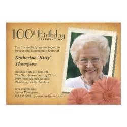 600 100th birthday invitations 100th birthday announcements invites zazzle