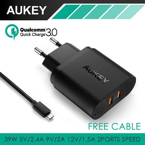 Aukey Usb Charger 6 Port With Dual Charge 30 Pa T11 aukey 36w dual usb port travel wall charger with qualcomm charge 3 0 for motorola nexus 6