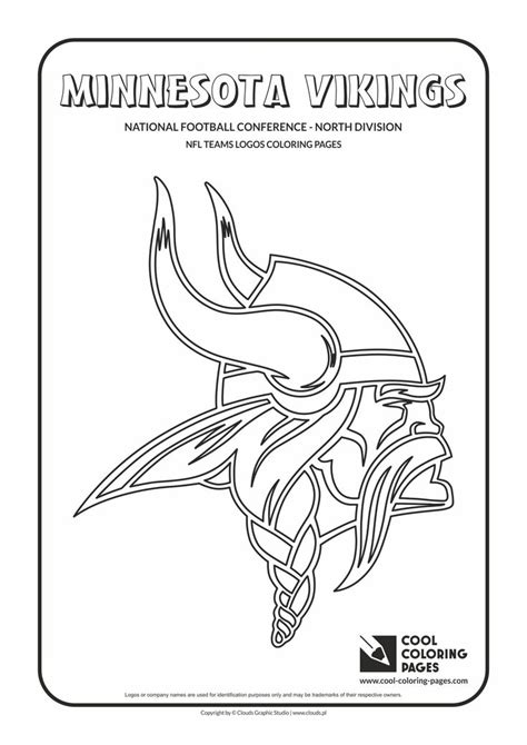 nfl vikings coloring pages minnesota vikings helmet pages printable coloring pages