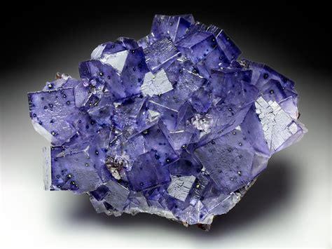 fluorite cubes with sphalerite on sparkling dolostone